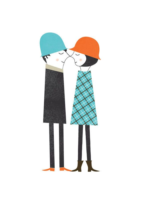 Couple print by blancucha #etsy