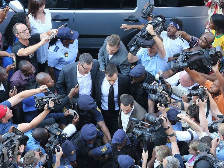 Oscar Pistorius arrives to North Gauteng High Court in Pretoria. Judge Thokosile Masipa has ruled out murder charges, but has left it to announce whether Oscar Pistorius is guilty of culpable homicide, as the six month trial of the Olympic double-amputee sprinter comes to an end.