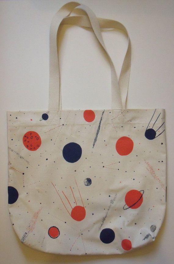 Planets Screen Print Space Bag