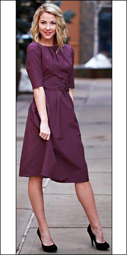 Modest:): Modest Dresses, Style, Color, Modest Clothing, Purple Dress, The Dress, Hair