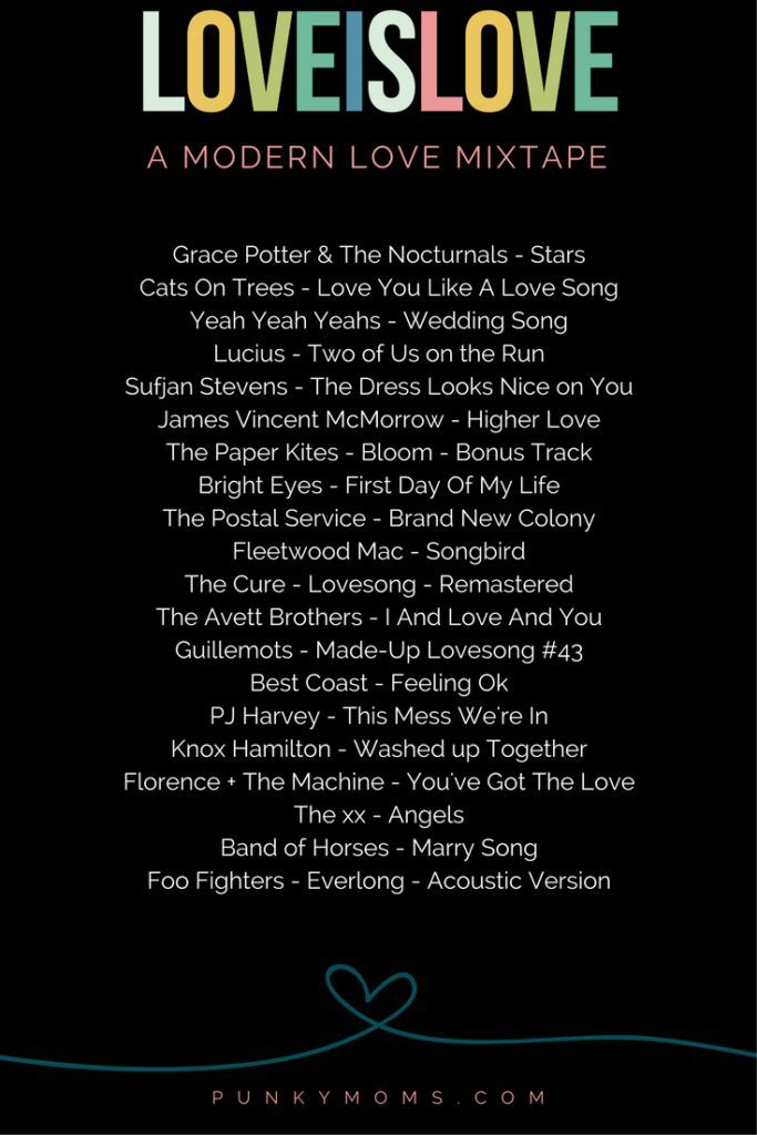The Coolest Punky Mom Weddings Ever Plus A Bonus Modern Love Mixtape Wedding Songs Love Songs Playlist Modern Wedding Songs