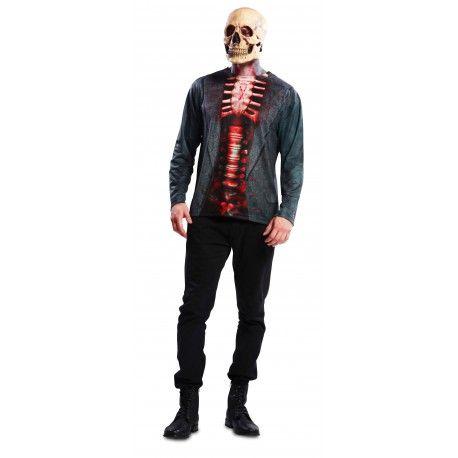 Camiseta de Esqueleto para Hombre #Disfraz #Costume #Halloween #Camiseta