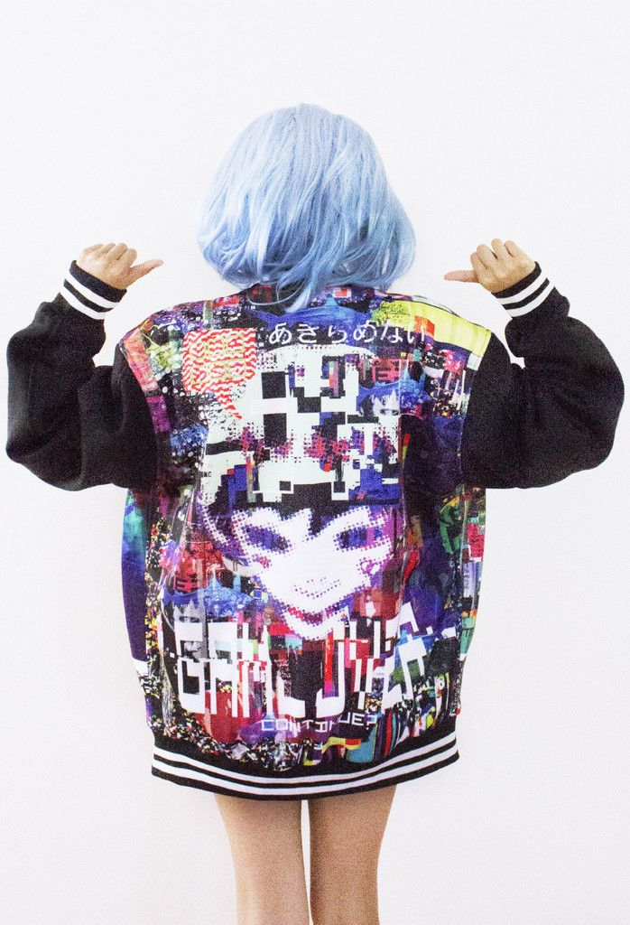 GoBoiano - 28 Times Anime Culture Fashion Was Extremely On Point  thomas mcnulty glitch artwork print on back of jackets