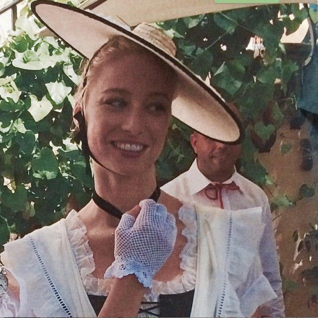 beatrice borromeo wearing traditional dress of monaco for her civil wedding celebration. Black Bedroom Furniture Sets. Home Design Ideas