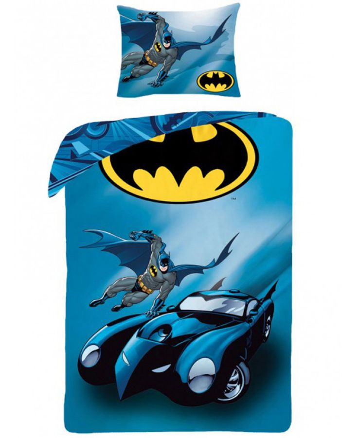 This Batman Batmobile Single Duvet Cover and Pillowcase Set is reversible and 100% cotton. Free UK delivery available