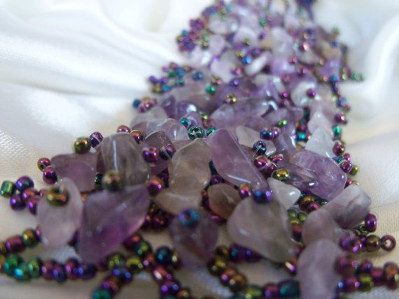 UNIQUE gorgeous shades of purple bracelet with by colourfulrose, $19.90