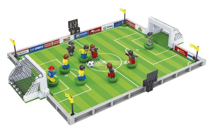 Ausini 250Pcs building blocks football series 200 3D Construction Toys brinquedos action figure anime toys for children 002 #Affiliate