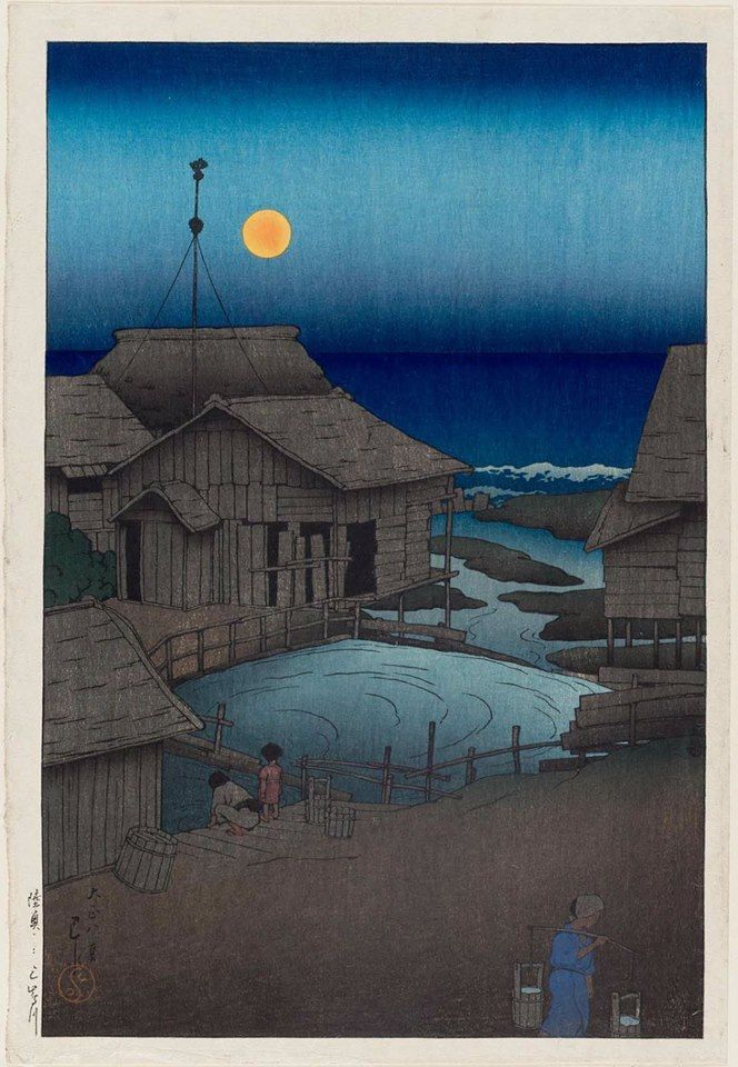 The Mishima River in Mutsu Province - 1919 Kawase Hasui