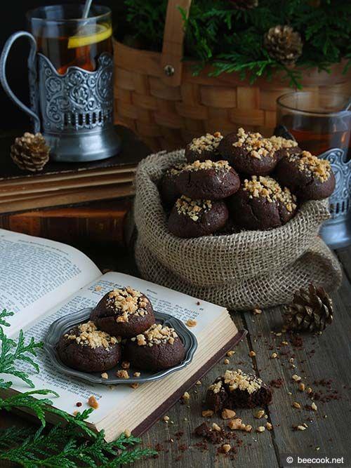 Шоколадно-арахисовое печенье