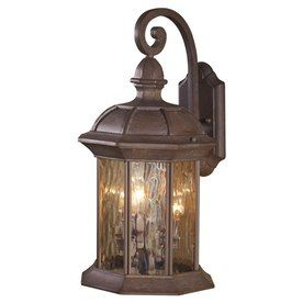 allen roth bellwood 19 in olde brick outdoor wall light large for. Black Bedroom Furniture Sets. Home Design Ideas