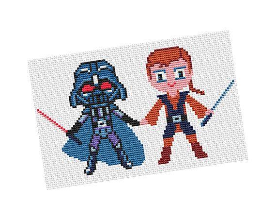 Anakin Darth Vader  Cross stitch Pattern PDF   Boy di POWSTITCH