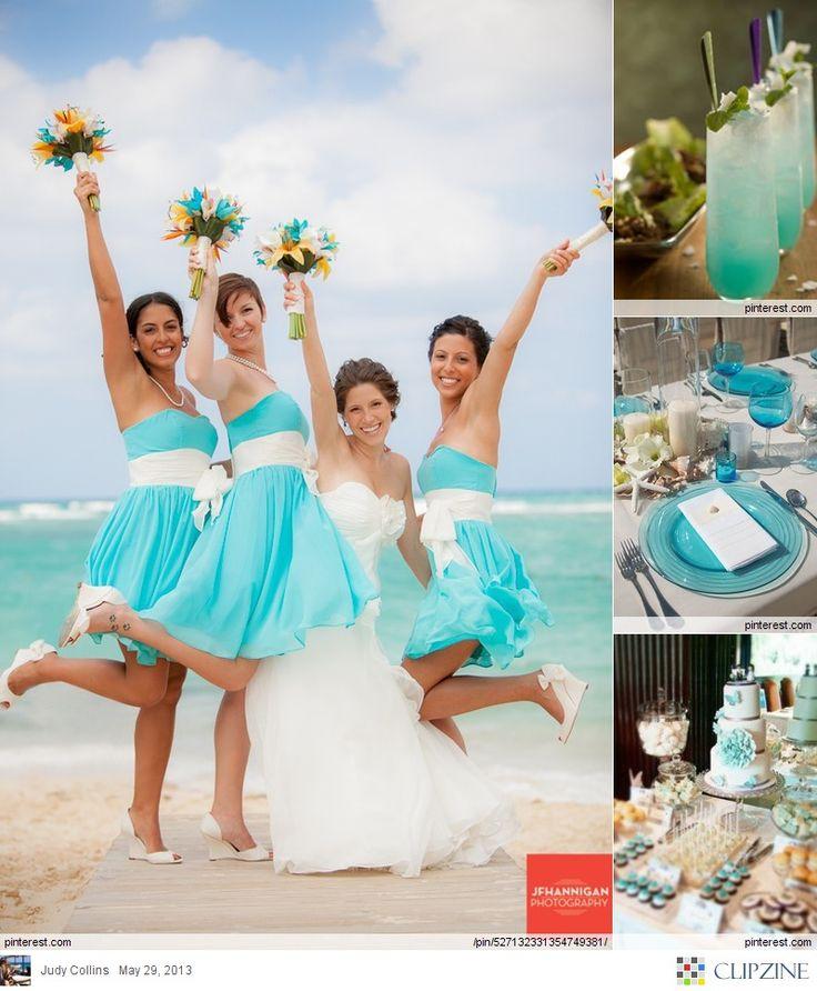 Love the bridesmaids dresses :)