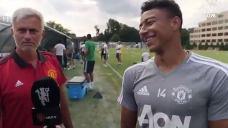 Jose Mourinho crashes Jesse Lingard interview on Man United tour
