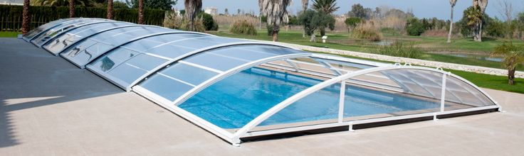 Cubierta baja telescópica Detalles: http://www.abripool.es/cubiertas-de-piscina-bajas/