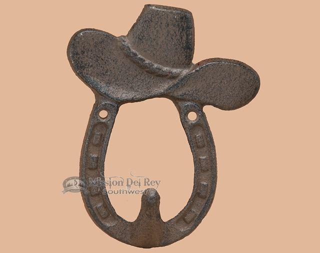 "Iron Art Western Hanger 17"" -Cowboy Hat - Mission Del Rey Southwest"