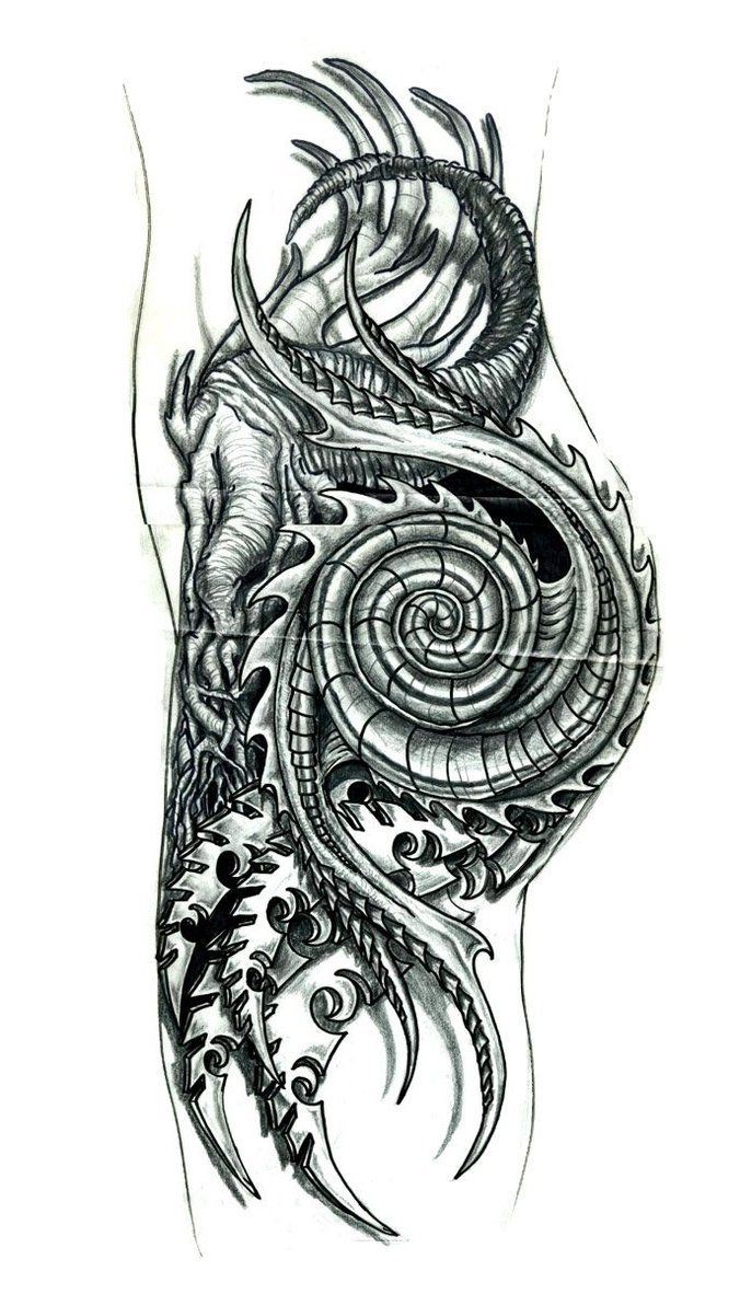 I am doing tattoos now... this and several other new images are what i now have been concentrating. this one happens to be a collaboration from several artists, including Guy Aitchison, Victor Port...