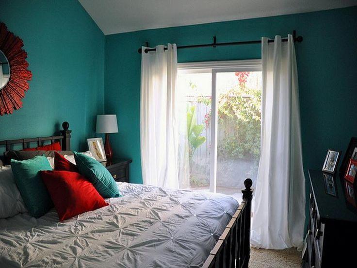 Aqua paint bedroom