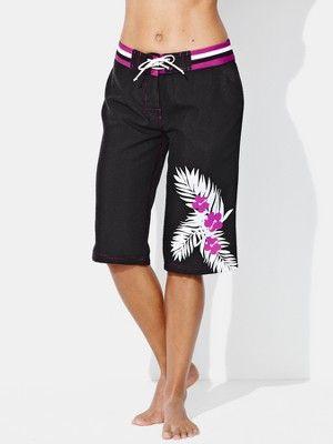 90df564967 Resort Ladies Long Board Shorts | Swimsuits | Womens long shorts, Swim  shorts women, Board shorts women