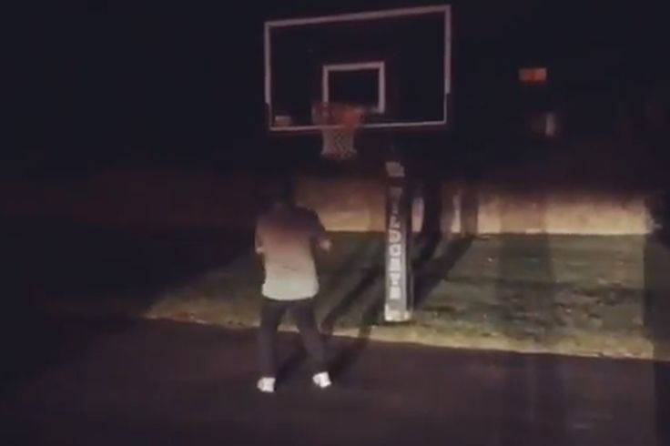 John Calipari did the #DriveByDunkChallenge on the shortest hoop he could find