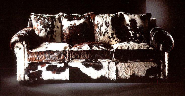 Muebles Portobellostreet.es: Sofá Simpson Piel de Vaca Natural - Sofás Coloniales y Rústicos - Muebles Coloniales y Muebles Rústicos