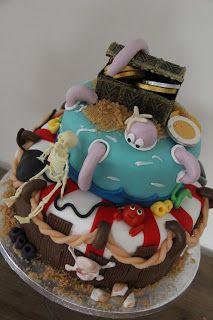 lekker zoet: Piraten taart...voor de kikkerklas