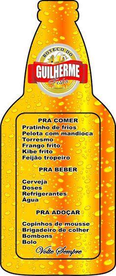 cardápio de cerveja