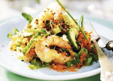 Eksotisk salat med tigerrejer og dressing - Salater - Mad - Isabellas