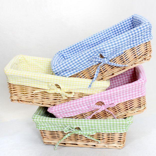 De salgueiro cesta de armazenamento cesta de vime trança de palha de artesanal com forro de pano(China (Mainland))