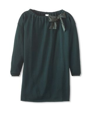 50% OFF Il Gufo Kid's Knit Bow Dress (Pine)