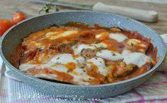 Melanzane alla pizzaiola senza forno ricetta veloce, buonissime veloci e sfiziose ideali come contorno o piatto unico, succulente e saporire senza forno