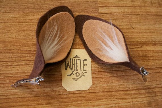 Faun Ears / Deer Costume Ears by WhitefoxHats on Etsy
