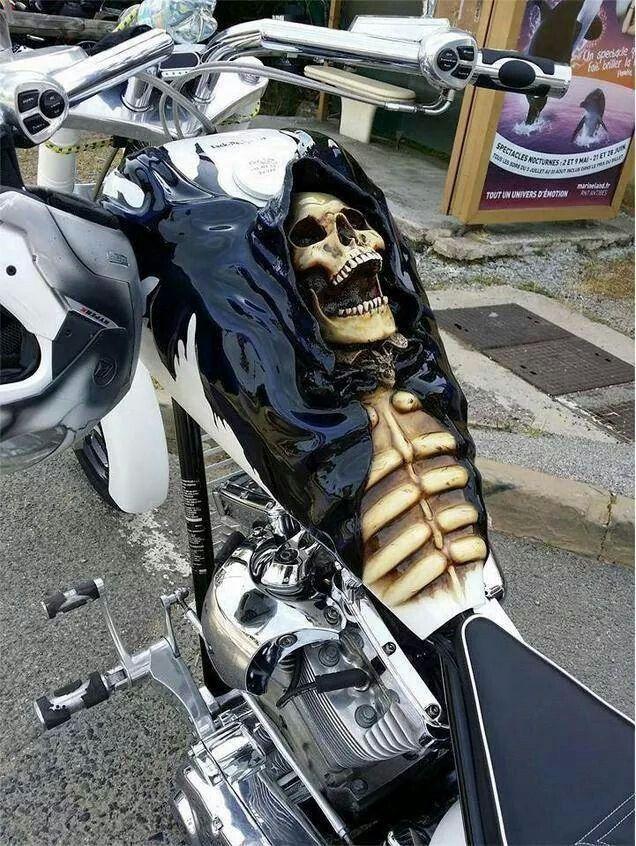 Crazy custom! #motorcycles #custom #biker                              …