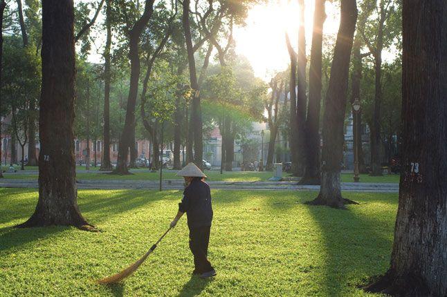 Ba Muoi Thang Tu Park near the opera house in Ho Chi Minh City