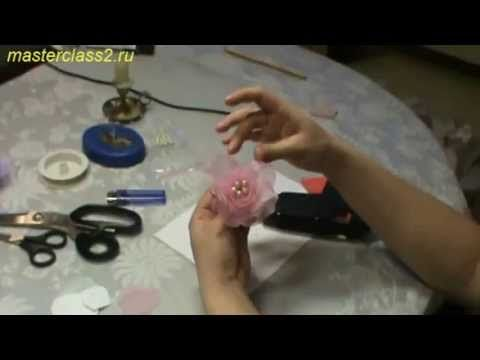 Цветы из ткани. Мастер класс Роза из органзы ❤ https://www.youtube.com/watch?v=MlW3LYxw7pY