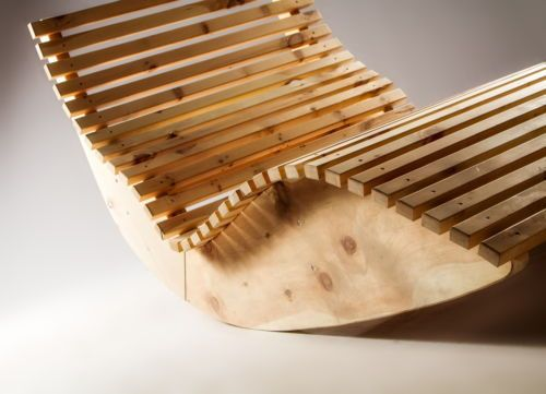 Massivholz-Schaukelliege-Holzliege-Relaxliege-Sonnenliege-Liege-70-140cm-Breite