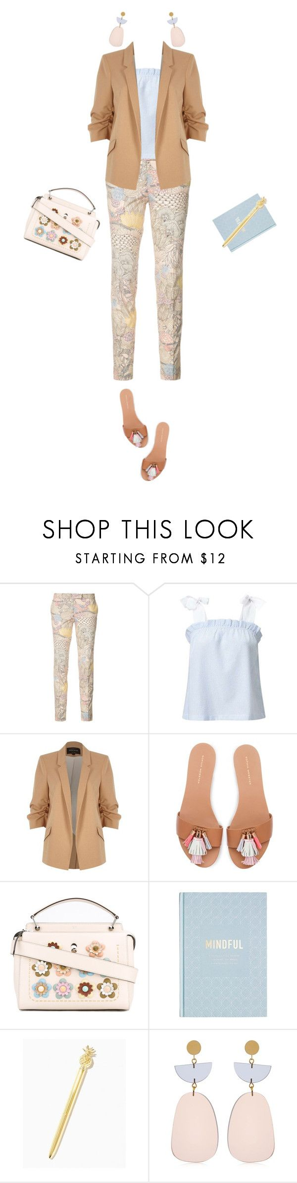 """""""WORK WEAR neutrals"""" by juuliap ❤ liked on Polyvore featuring Barbara Bui, River Island, Fendi, Isabel Marant, WorkWear, blazer, tote and journal"""