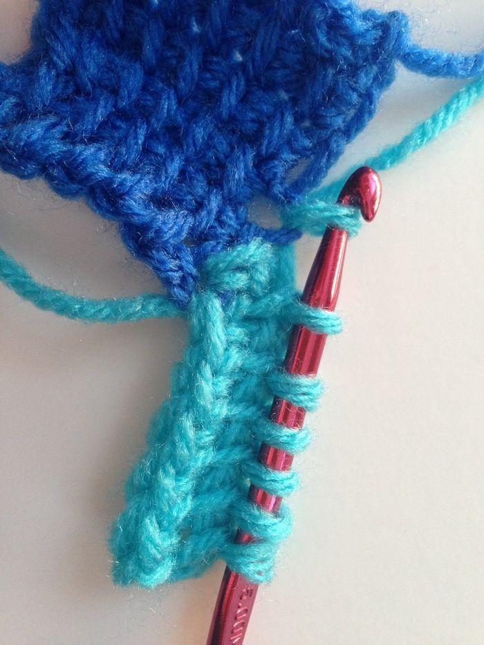 crochet entrelac square two