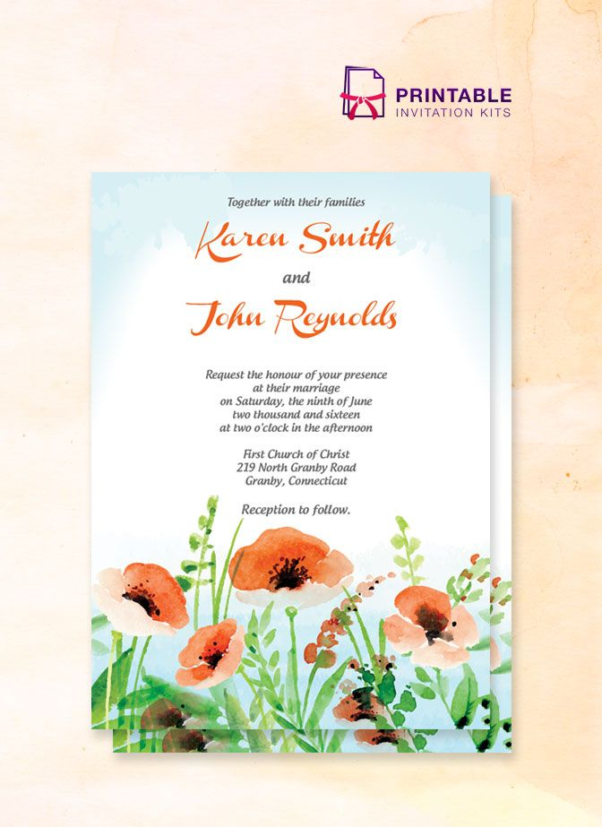 213 best Wedding Invitation Templates (free) images on Pinterest - wedding card template