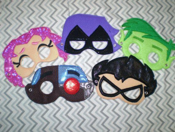 Teen Titans Go Inspired Felt Masks..Superheros... by Fancythattwo