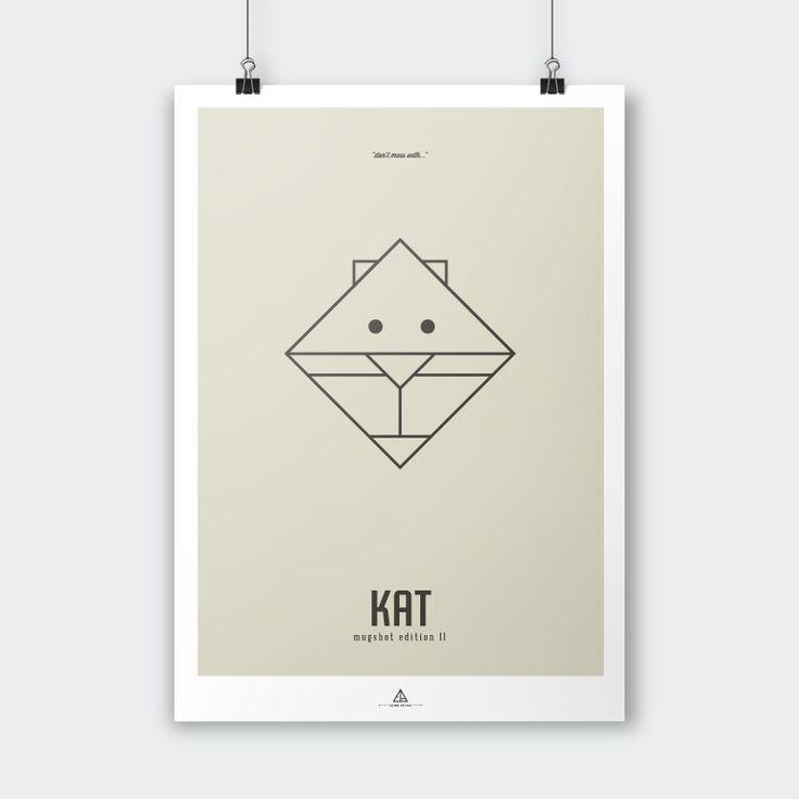 Ejvind Arthur – Mugshot Edition II – KAT - Tinga Tango #ejvindarthur#illustration#grafisk#dekoration#kat