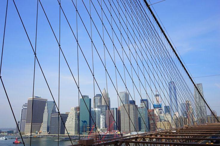 Vue depuis le pont de Brooklyn - Le Chameau Bleu