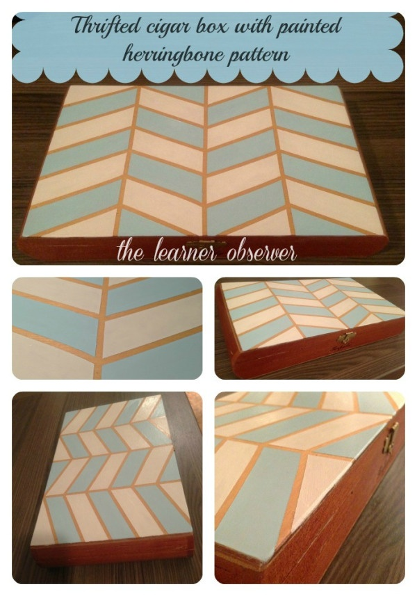Painted Wooden Box from The Learner Observer