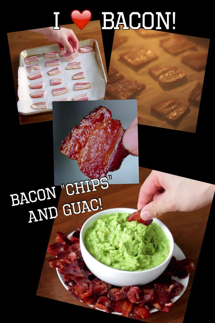 "Baked bacon chips and guacamole! A different way to eat a ""fat bomb"""