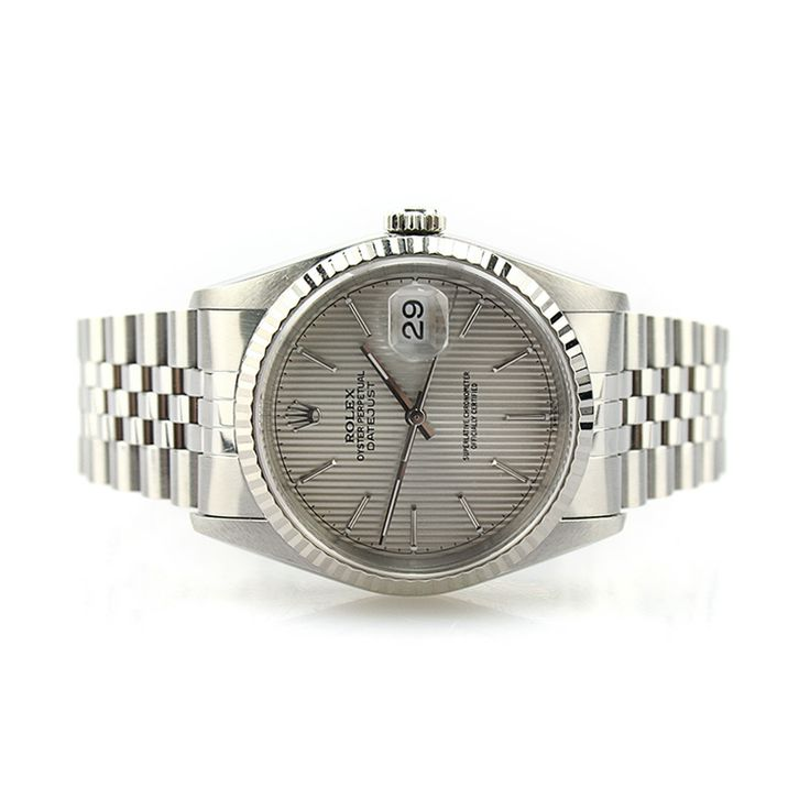 Rolex Oyster Perpetual DateJust 16234 (Silver Tapestry Dial)   Pre-owned Rolex Watch   Cashmax Jewelry   #LuxuryWatch #Cashmax