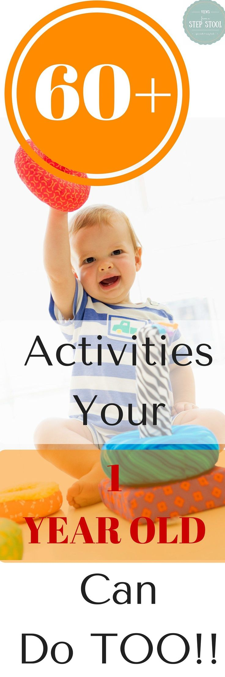 You can find TONS of activities for toddlers and preschoolers to do from fun sensory play to fantastic busy bags. The only problem is that a lot of this awesomeness is not geared for a one year old. These are the kiddos that are very active and engaged, but still have a hard time sitting still or put everything in their mouth..
