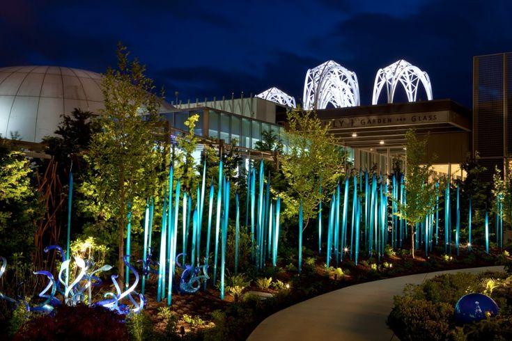 Chihuly Garden Night Lights Glass Pinterest Gardens