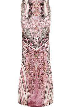 Roberto Cavalli Berenice printed stretch-silk maxi skirt | NET-A-PORTER