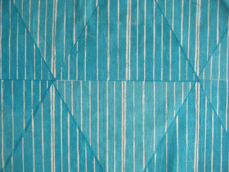 Handprinted fabric by smitten design ltd. Design: Teal Diamond with pinstripe. Part of the Urban Industrial range.
