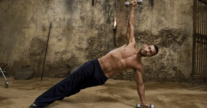 Andy Whitfield's Spartacus workout