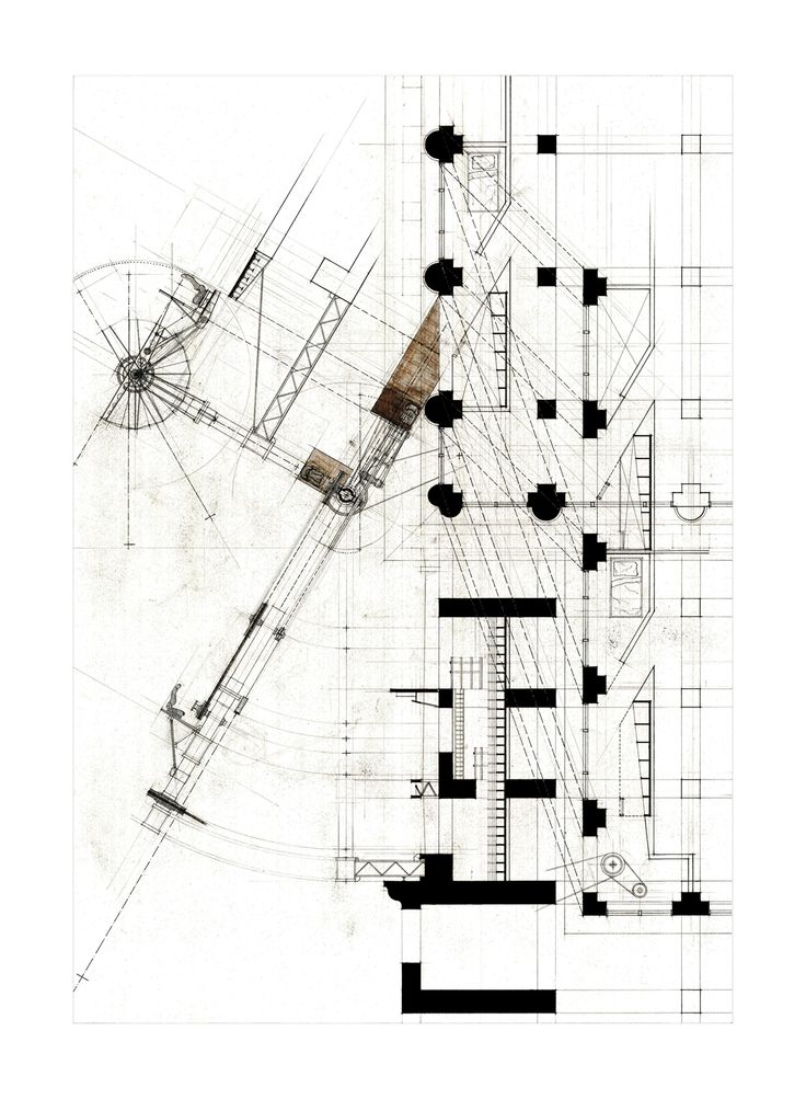 """The Geographer's Den & Mapping Machine, 2011. Graphite, ink, and collaged print-outs on Arches Hot Press 140lbs White watercolor paper. 22""""x..."""